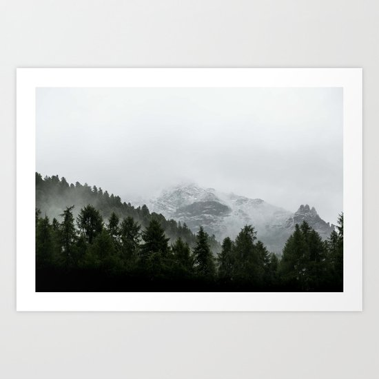 Faded Forest Landscape Art Print
