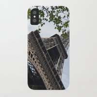 eiffel tower iPhone & iPod Cases featuring Eiffel Tower  by Françoise Reina