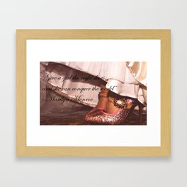 Pink glitter Shoes #1 Framed Art Print