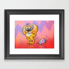 Painful Easter Bunny Job Framed Art Print