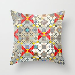 Detroit People Mover Art Broadway Fort and Cass Throw Pillow