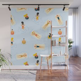 Abstract Summer Fun Bathing Time Pattern Wall Mural