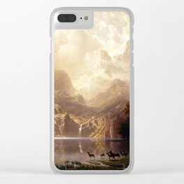 Albert Bierstadt - Among the Sierra Nevada, California Clear iPhone Case