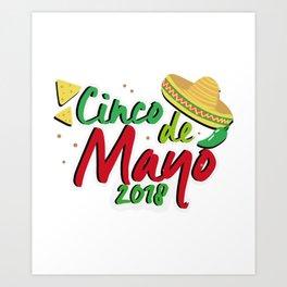 Cinco De Mayo 2018 Celebration Art Print