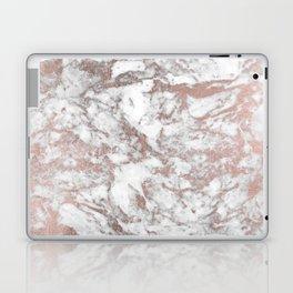 Elegant white faux rose gold modern marble Laptop & iPad Skin