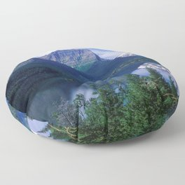 Montana Mountains Floor Pillow