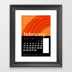 2013 Pigment to Pantone Calendar – FEBRUARY Framed Art Print
