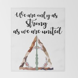 United together Throw Blanket