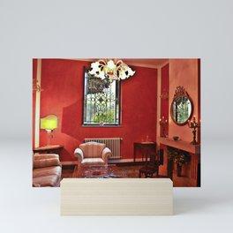RED SALON in SARDINIAN VILLA Mini Art Print
