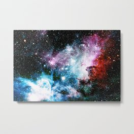 Carina Nebula : Vivid Blue Fuchsia and Red Metal Print