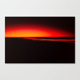 Night Lights Four Red Tail Lights Canvas Print