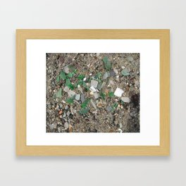 Rolling Rock sea glass Framed Art Print