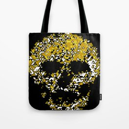 Geometric Mustard Yellow Skull Composed Of Triangles Tote Bag