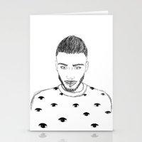 zayn malik Stationery Cards featuring Zayn Malik by Aurora