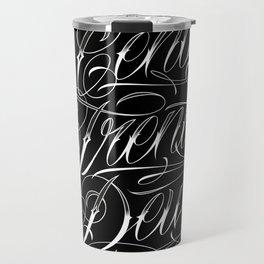 Cent Trente Deux (Nosé) Black Travel Mug