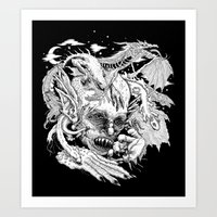 demon Art Prints featuring Demon by Gregery Miller