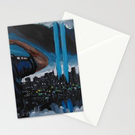 911 tribute for the fallen Stationery Cards