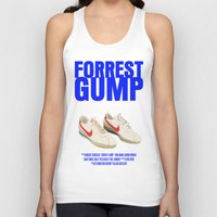 forrest gump Tank Tops featuring Forrest Gump Movie Poster by FunnyFaceArt