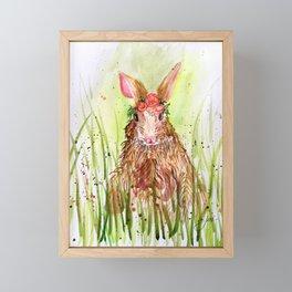 Rosie Rabbit Framed Mini Art Print