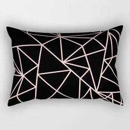 Abstract geometric pink black modern shapes pattern Rectangular Pillow