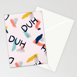 DUH Pattern Stationery Cards