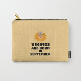 Vikings are born in September T-Shirt Doid8 Carry-All Pouch