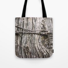Weathered Knot Tote Bag