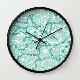Water Camo Wall Clock