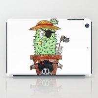 luffy iPad Cases featuring Cactus Luffy by Vania Pietronigro