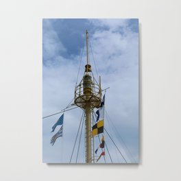 Light Vessel Mast Metal Print