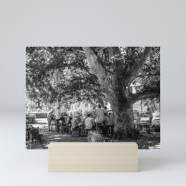 The afternoon gathering Mini Art Print