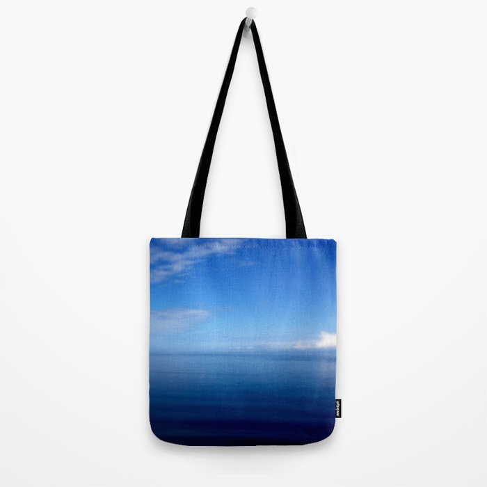 Where Water Meets Sky... | Blue Water and Sky Horizon | Landscape Tote Bag