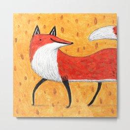 Sassy Little Fox Metal Print
