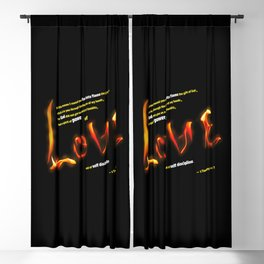 Love's Flame Blackout Curtain
