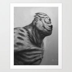 A monster we call Monday Art Print