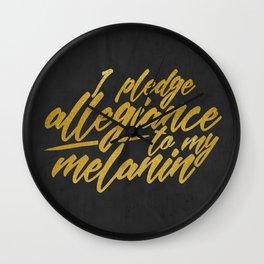MELANIN PLEDGE Wall Clock