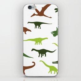 Green dinosaurus pattern iPhone Skin