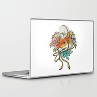 kitsune Laptop & iPad Skins featuring Kitsune by Rescue & Ramona