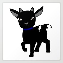 Micky the Goat Art Print