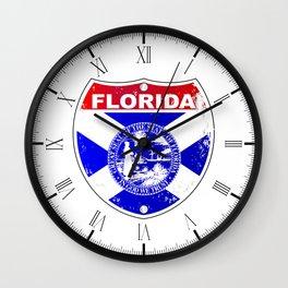 Florida Interstate Sign Wall Clock