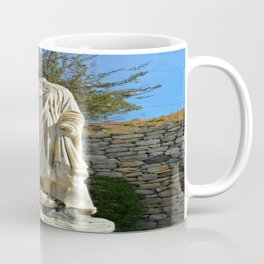 Calico cat in Ephesus, Turkey Coffee Mug
