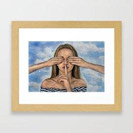 Silence in the Dark  Framed Art Print