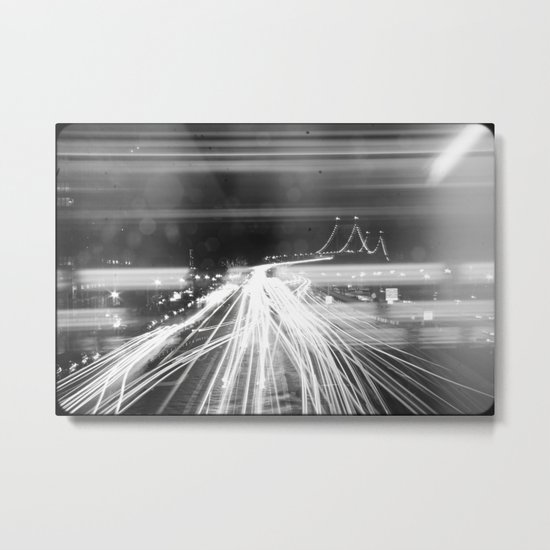 The Night Vibes Electric Metal Print