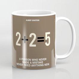 Lab No. 4 - Albert Einstein Motivational Quotes Poster Coffee Mug