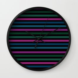 Striped pattern 14 Wall Clock