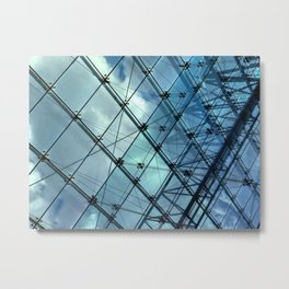 Glass Ceiling VI (Landscape) - Architectural Photography Metal Print