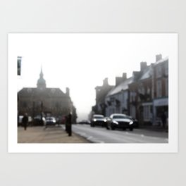 Out of Focus British Town Art Print