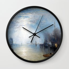 Joseph Mallord William Turner Keelmen Heaving in Coals by Moonlight Wall Clock