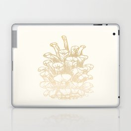 Golden Pine Cone Laptop & iPad Skin