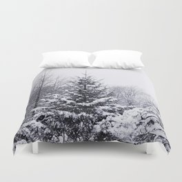 Snow and Pines Duvet Cover